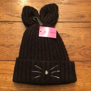 NWT - Betsey Johnson Hat and Glove Set